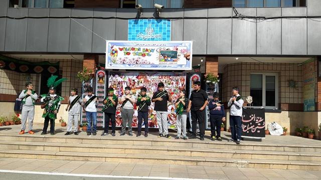 برگزاری مراسم عزاداری تاسوعا و عاشورای حسینی در دبستان