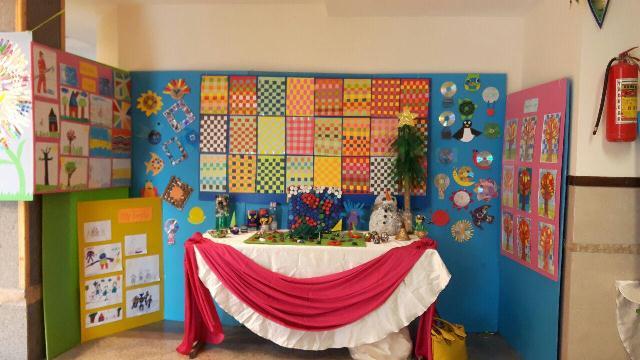 برگزاری نمایشگاه از دست سازه های دانش آموزان به مناسبت ایام دهه فجر