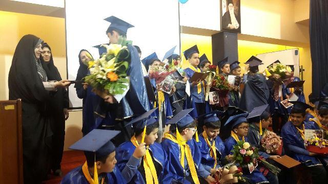 جشن فارغ التحصیلی دانش آموزان پایه ششم